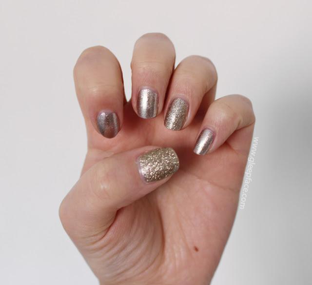 Nails Inc Regents Park – Neutral Gold Nails